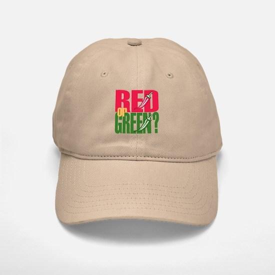 Red or Green? Baseball Baseball Cap