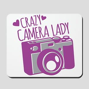 Crazy Camera Lady Mousepad