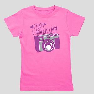 Crazy Camera Lady Girl's Tee