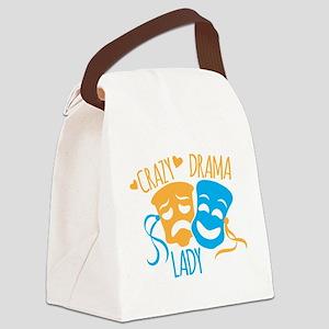 Crazy DRAMA Lady Canvas Lunch Bag