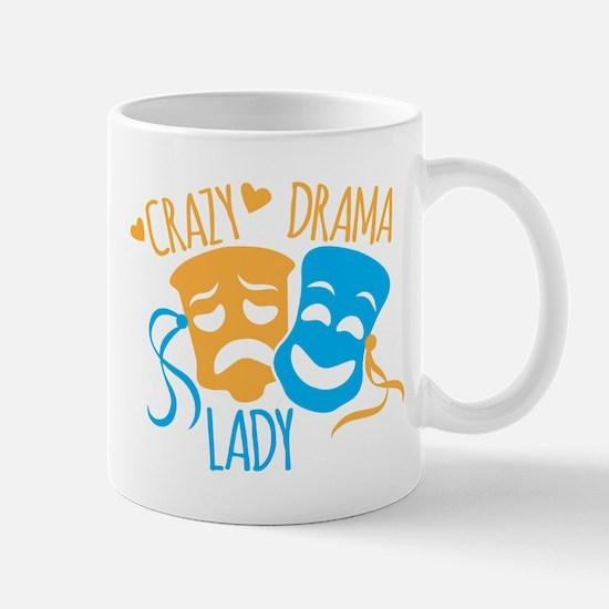 Crazy DRAMA Lady Mugs