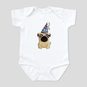 Happy 1st Birthday Pug Infant Body Suit