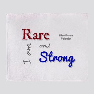 I am Rare and Strong Throw Blanket