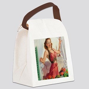 Pinup at the Garden ! Canvas Lunch Bag