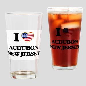 I love Audubon New Jersey Drinking Glass