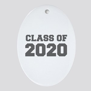 CLASS OF 2020-Fre gray 300 Ornament (Oval)