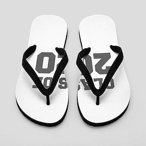 CLASS OF 2020-Fre gray 300 Flip Flops