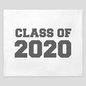 CLASS OF 2020-Fre gray 300 King Duvet