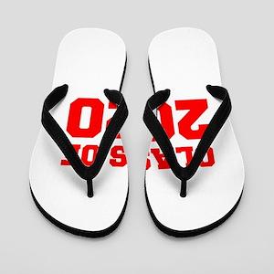 CLASS OF 2020-Fre red 300 Flip Flops