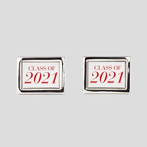 CLASS OF 2021-Bau red 501 Rectangular Cufflinks