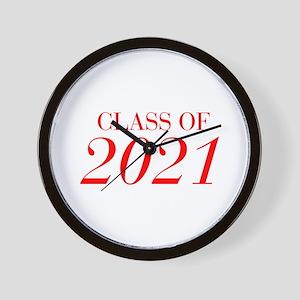 CLASS OF 2021-Bau red 501 Wall Clock