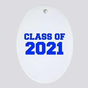 CLASS OF 2021-Fre blue 300 Ornament (Oval)