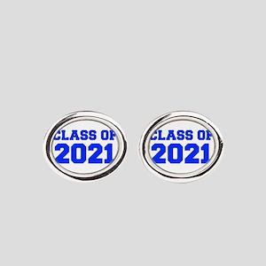 CLASS OF 2021-Fre blue 300 Oval Cufflinks