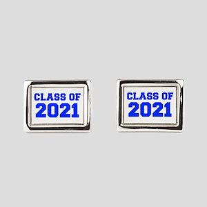 CLASS OF 2021-Fre blue 300 Rectangular Cufflinks