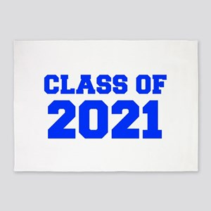 CLASS OF 2021-Fre blue 300 5'x7'Area Rug