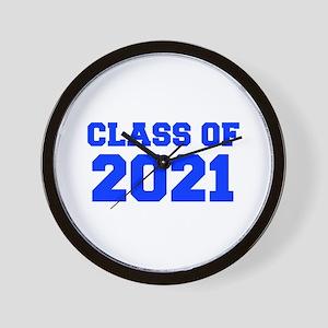 CLASS OF 2021-Fre blue 300 Wall Clock