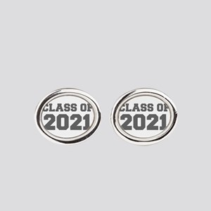 CLASS OF 2021-Fre gray 300 Oval Cufflinks