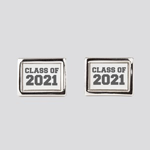 CLASS OF 2021-Fre gray 300 Rectangular Cufflinks