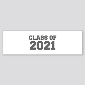 CLASS OF 2021-Fre gray 300 Bumper Sticker