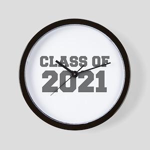 CLASS OF 2021-Fre gray 300 Wall Clock