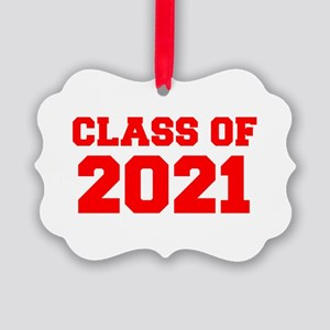 CLASS OF 2021-Fre red 300 Ornament