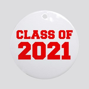 CLASS OF 2021-Fre red 300 Ornament (Round)