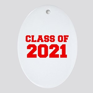 CLASS OF 2021-Fre red 300 Ornament (Oval)