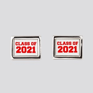 CLASS OF 2021-Fre red 300 Rectangular Cufflinks