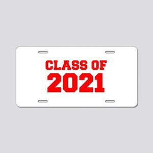 CLASS OF 2021-Fre red 300 Aluminum License Plate