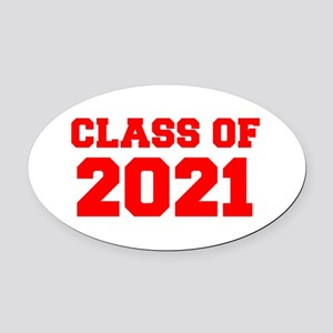 CLASS OF 2021-Fre red 300 Oval Car Magnet