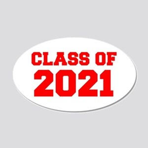 CLASS OF 2021-Fre red 300 Wall Decal