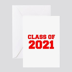 CLASS OF 2021-Fre red 300 Greeting Cards