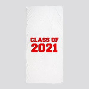 CLASS OF 2021-Fre red 300 Beach Towel