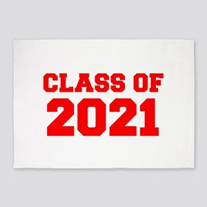CLASS OF 2021-Fre red 300 5'x7'Area Rug