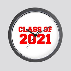 CLASS OF 2021-Fre red 300 Wall Clock