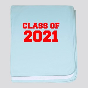 CLASS OF 2021-Fre red 300 baby blanket