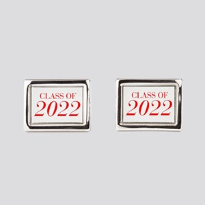 CLASS OF 2022-Bau red 501 Rectangular Cufflinks