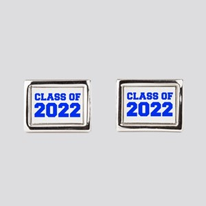 CLASS OF 2022-Fre blue 300 Rectangular Cufflinks