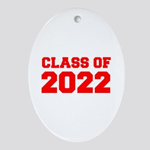CLASS OF 2022-Fre red 300 Ornament (Oval)