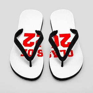 CLASS OF 2022-Fre red 300 Flip Flops