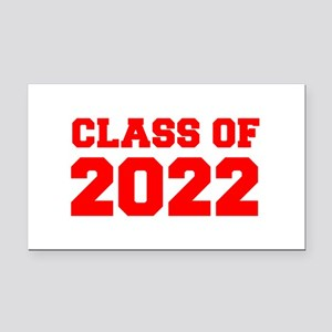 CLASS OF 2022-Fre red 300 Rectangle Car Magnet