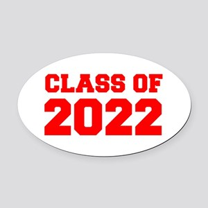 CLASS OF 2022-Fre red 300 Oval Car Magnet