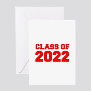 CLASS OF 2022-Fre red 300 Greeting Cards