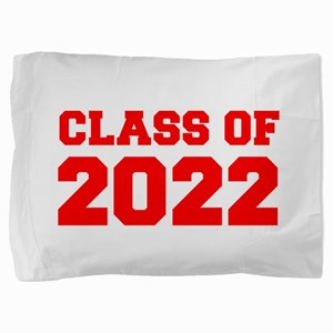 CLASS OF 2022-Fre red 300 Pillow Sham