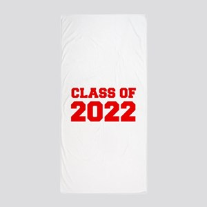 CLASS OF 2022-Fre red 300 Beach Towel