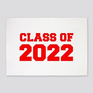 CLASS OF 2022-Fre red 300 5'x7'Area Rug