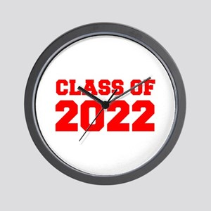 CLASS OF 2022-Fre red 300 Wall Clock