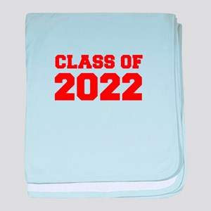 CLASS OF 2022-Fre red 300 baby blanket