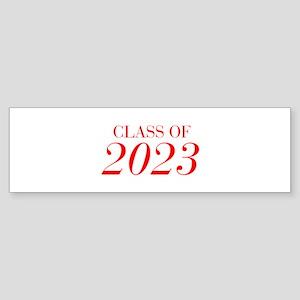 CLASS OF 2023-Bau red 501 Bumper Sticker