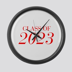 CLASS OF 2023-Bau red 501 Large Wall Clock
